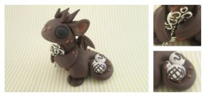 Chocolate Key Keeper Dragon by KriannaCrafts