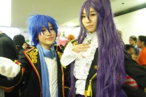 Sandplay: Kaito and Gakupo by cazzu-chan