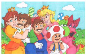 Mario and Friends by Jaymzeecat