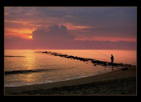 Fisherman at Sunrise by Hassan9