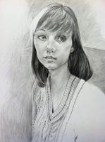 Girl With Bangs Life Drawing Final by emueller
