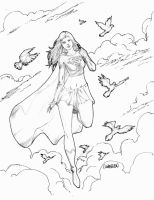 Supergirl NYCC Sketch by Arciah