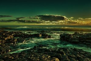 HDR Sunset Indian Ocean by Riddlez46