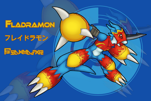 :Digimon Collab Donation: Fladramon EXAMPLE by Pikuna