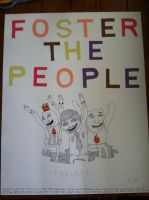 Homemade Foster the People poster by originofemilie