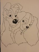 Lady and the tramp by SilentArtist-A