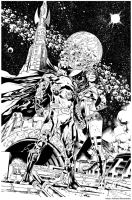 Inks - Earth 2 Page by Paulo Siqueira by adr-ben