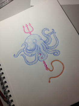 Octopus Sketch by LoganFick