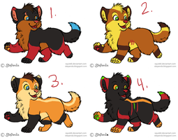 Wolf pup point adoptables OPEN by DarkChocaholic