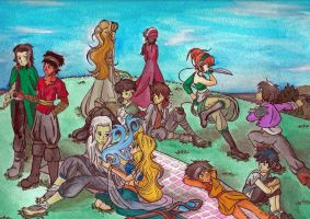 Picnic on the Hill by CessieRose25