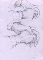 Hands scetch 4 by AshiPhoenix