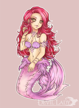 005 CHIBI Commission - Mermaid by devilladyart