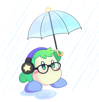 Rainy waddle dee by Drawn-Mario