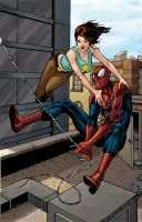 Spidey and MJ by BrianAtkins
