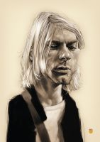 KURT COBAIN by solitarium