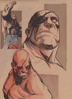 Sagat sketches by joverine