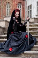 Vampiress With Sword by ann-emerald-stock