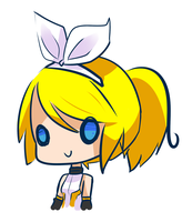 Vocaloid - Append Rin doodle by RynSama