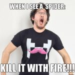 When I see a spider - MARKIPLIER by CreepyBennie