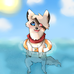 Floating in the sea~ by Skylar-Wolf