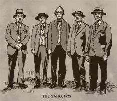 The Gang, 1923 by Fenster