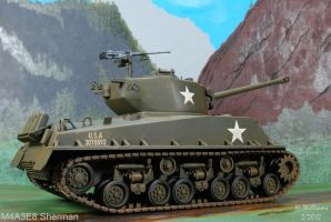 M4A3E8 Sherman right by 12jack12