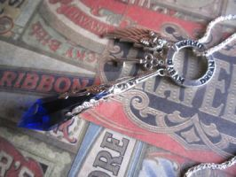 TARDIS Crystal Doctor Who Charm Necklace by MammaShaClothing