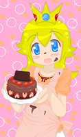 ::Peach and a nice cake:: by Aicontheprincess