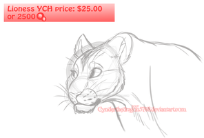 Lioness Ych -OPEN- by Cynderthedragon5768