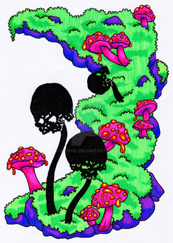 Doom Shrooms Colored by Nashiil
