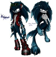Nightmare Sonic Both forms CLR by Jolleboi