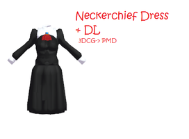 MMD: Neckerchief dress + DL by Chibi-Baka-San