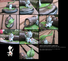 Custom Sculture Commission - Togetic in the Rain