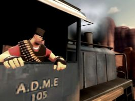 British Heavy and his Train... by KitMan1973