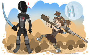 Borderlands 2 chibi team by AltairSky
