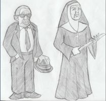 Curtis and Sister Mary by HoratioGiovanni