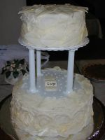 White Creme Wedding Cake by TortillaDelPeligro