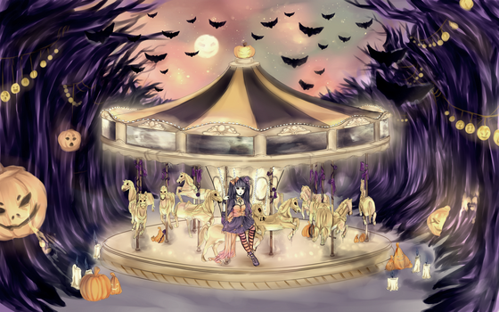midnight carousel [HAPPY HALLOWEEN] by 3ff3x
