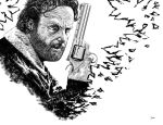 Andrew Lincoln as Rick Grimes Inking by DmVenturini