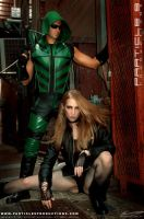Green Arrow and Black Canary 2 by Superchica