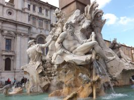 Piazza Navona fountain by DominiqueDuong