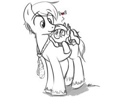 Derpy and Daddy by bunnimation