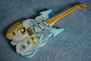 Derpy Guitar for Brony Expo by GhostOfWar909
