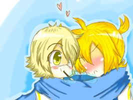 Oliver X Len in the cold by Growl-Flippy
