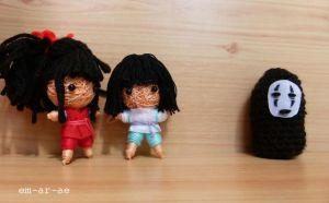 Spirited Away dolls by Em-Ar-Ae