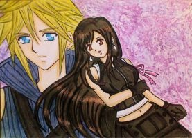 Cloud x Tifa: Always in my mind by dagga19 by dagga19