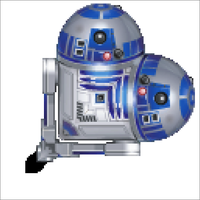 Coeur R2D2 by OliveLogArt