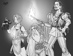 The Mage, Lady Beard and the Bard by Shabazik