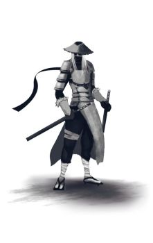 Samurai Sketch by eximmice