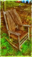 Old Chair on the farm. by OphicusArts